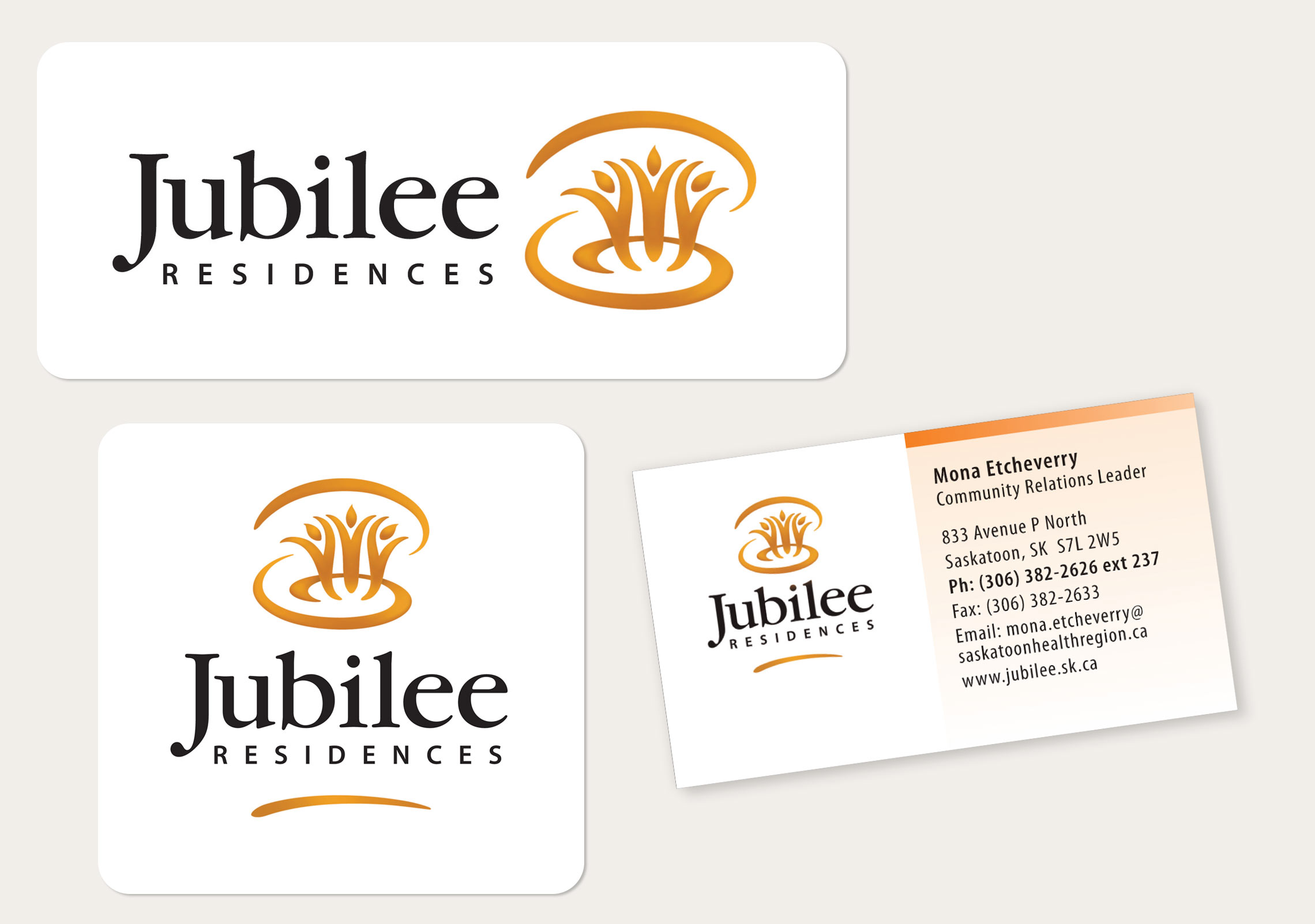 Jubilee Residences: Logo and Business Card
