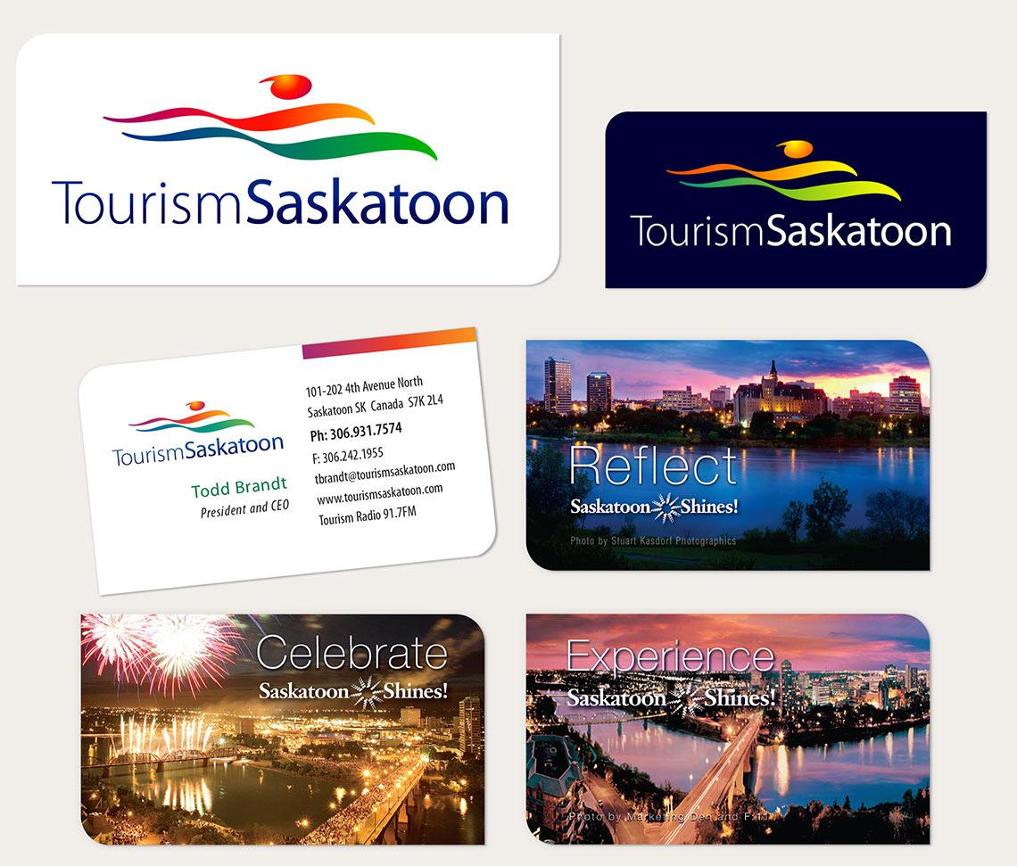 Tourism Saskatoon: Logo and Business Cards